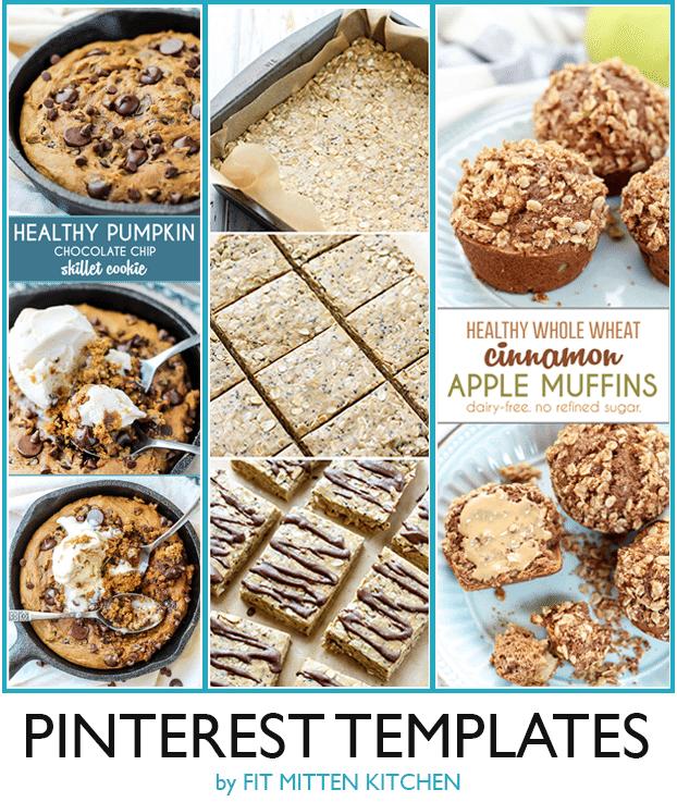 Pinterest Tips for Food Blogger  and templates! pinterest image fit mitten kitchen