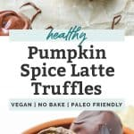 pumpkin spice latte truffles pinterest
