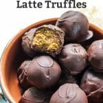 open pumpkin spice latte truffle candy in bowl