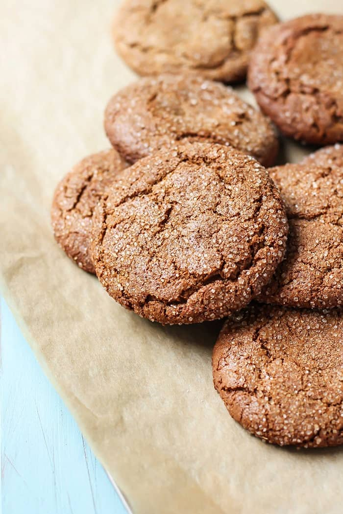 Crisp edges and chewy centers in these flourless, Paleo Spiced Almond Butter Cookies! Cinnamon, ginger, and cardamom make for a unique flavor combination.