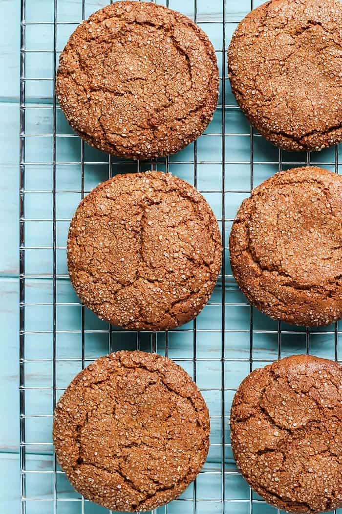 Paleo Spiced Almond Butter Cookies on cooling rack