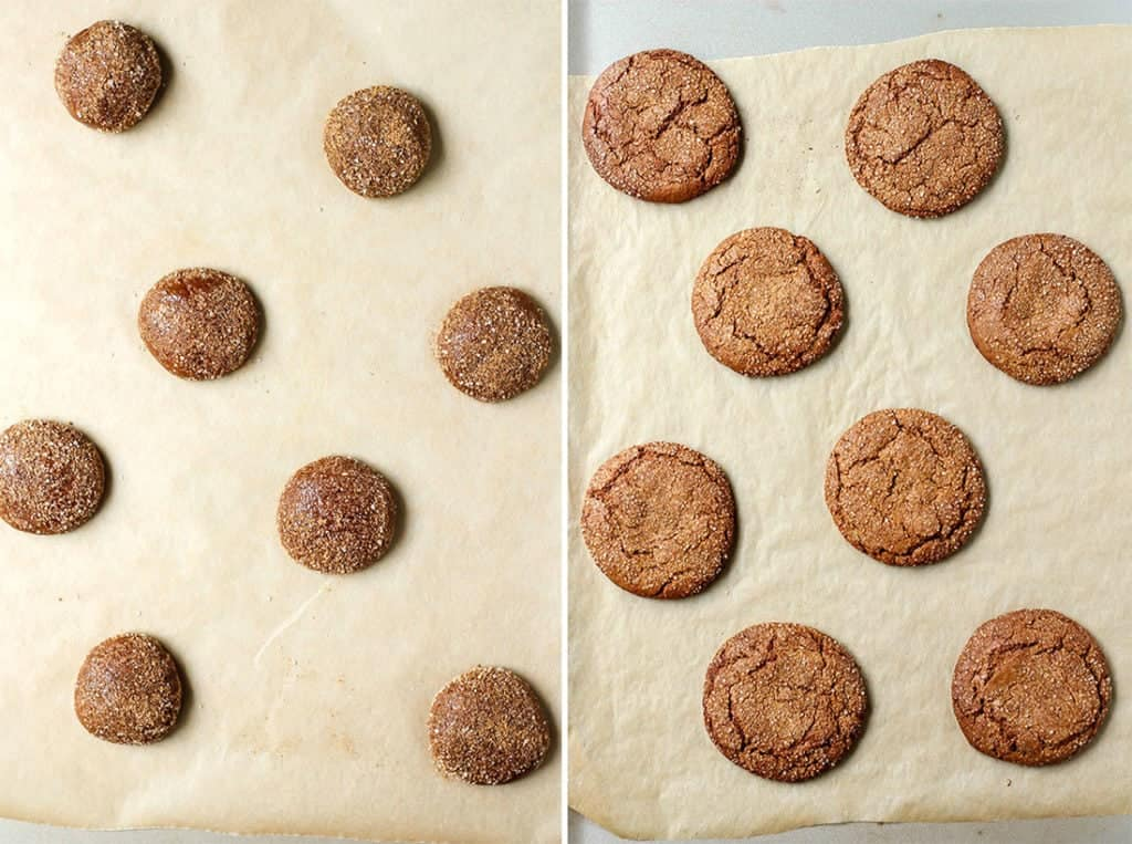 Paleo Spiced Almond Butter Cookies on baking sheet