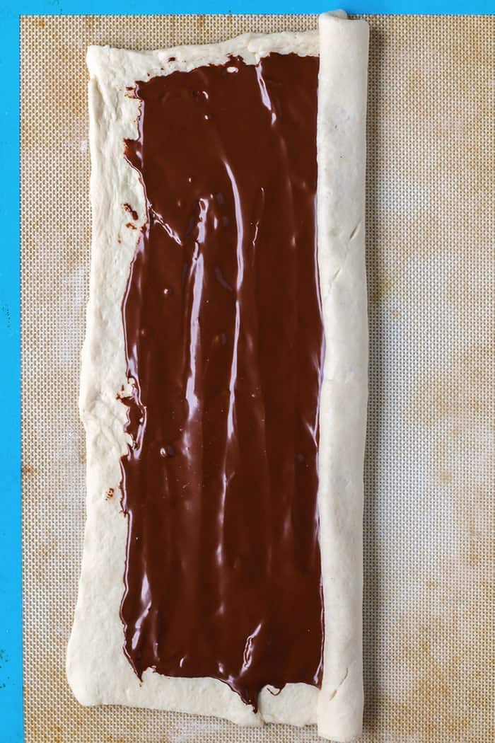 2-Ingredient Chocolate Braided Bread - Step 3.
