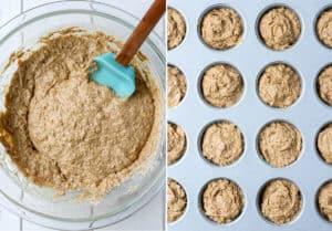 one bowl gluten-free vegan banana mini muffins. Ready in under 20 minutes!