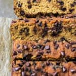 A simple Pumpkin Bread recipe using coconut flour for a grain-free treat. It's soft, moist, and easy to make! No oil, low in sugar, plus it's paleo-friendly. Throw in some chocolate chips and everyone will love this bread!