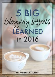 The 5 Big Blogging Lessons I've Learned in 2016, plus investing in your business.