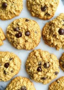 Flourless Dark Chocolate Ginger Oatmeal Cookies - rachLmansfield