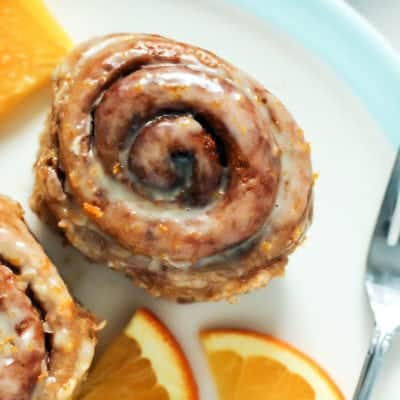 Vegan Spelt Flour Orange Cardamom Cinnamon Rolls