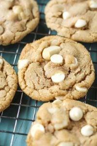 dairy-free friendly white chocolate chip macadamia nut cookies!