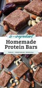 4-ingredient homemade protein bars