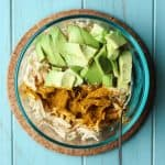 Curried Avocado Chicken Salad Recipe using this everyday easy slow cooker chicken!