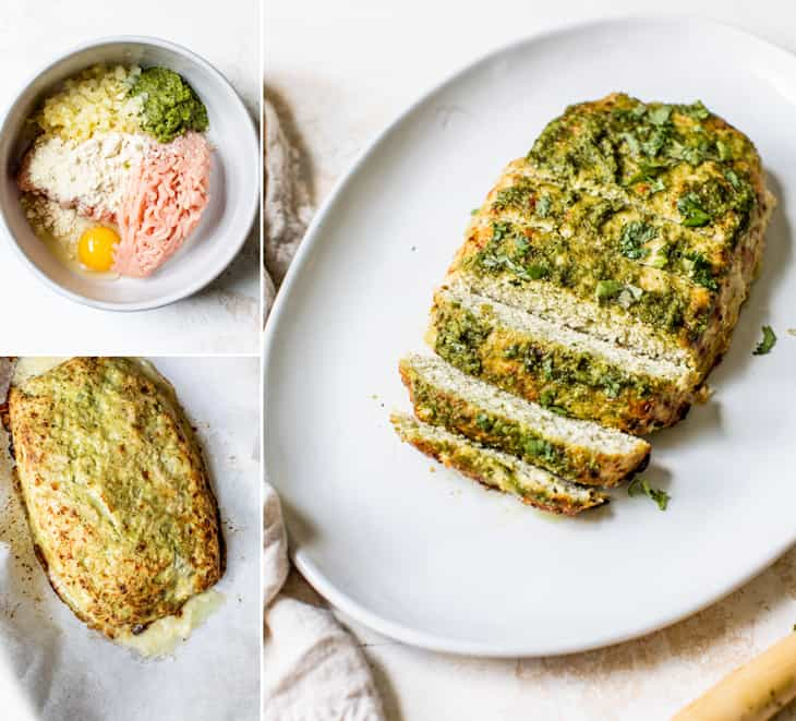 how to make pesto turkey meatloaf