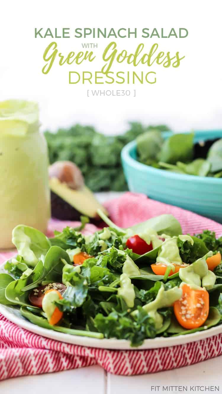 kale salad with green goddess dresing pinterest