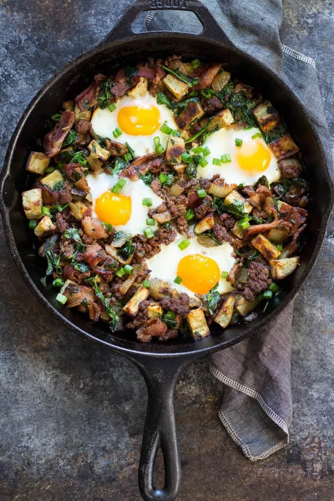 11 Savory Whole30 Breakfast Recipes you most definitely need in your life. | Bacon Burger & Fries
