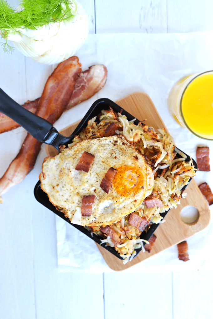 11 Savory Whole30 Breakfast Recipes you most definitely need in your life. | Bacon Fennel Hash