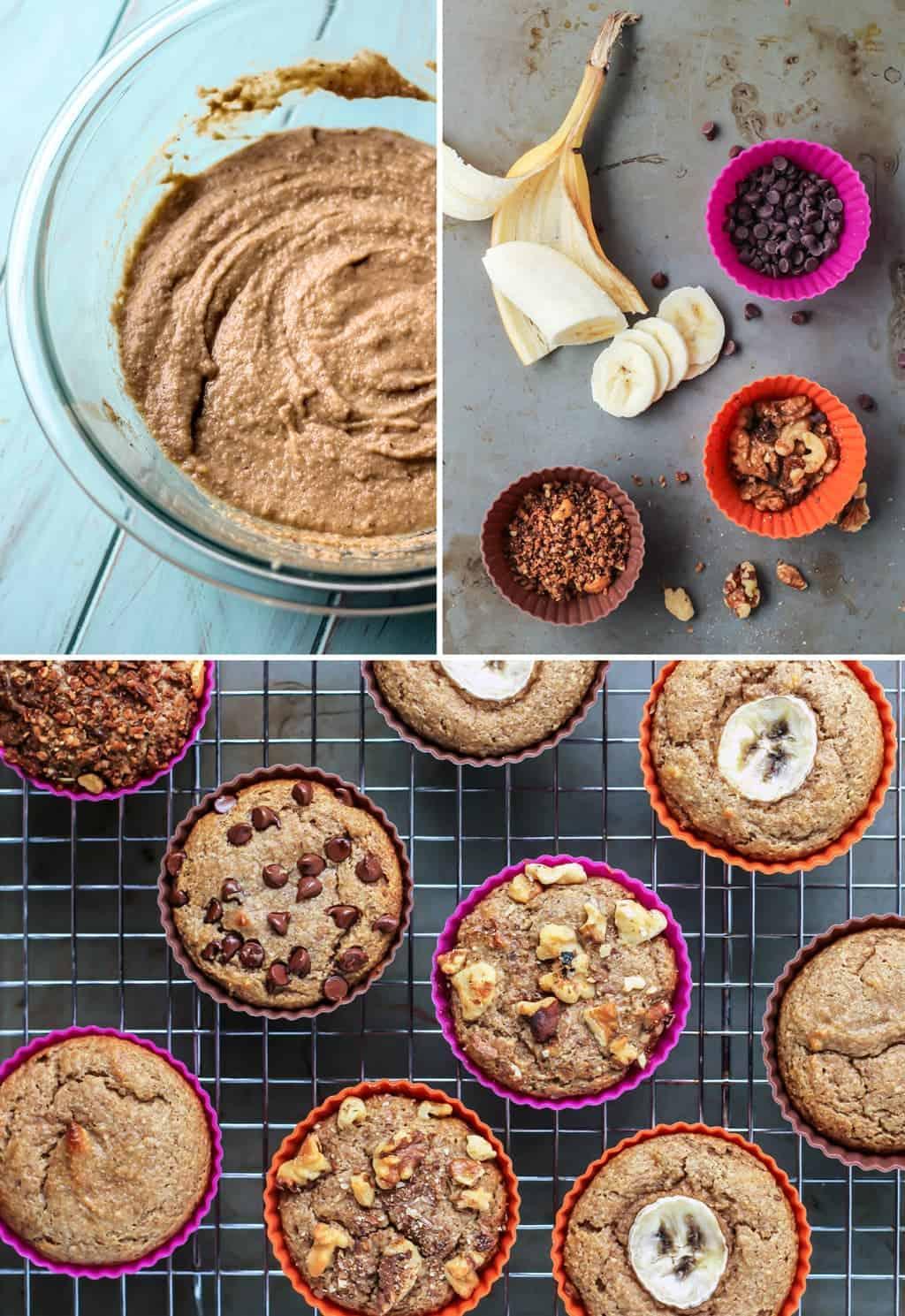 Simple Paleo Banana Muffins–4 ways!