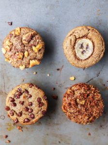 Simple Paleo Banana Muffins–4 ways!
