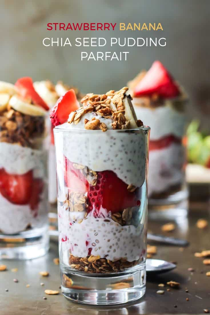 Make this fun layered Strawberry Chia Seed Pudding Parfait for a fun breakfast or healthy dessert. Gluten-free friendly using your favorite granola.