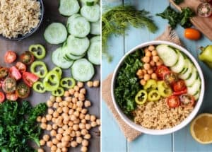 This Greek Power Bowl is perfect for any kind of meal and super satisfying thanks to plant protein. Plus there is a simple dairy-free, vegan tzatziki dressing you must add to this bowl.