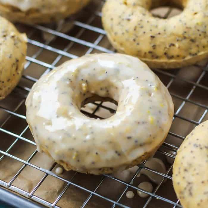 Glazed Lemon Poppy Seed Donuts