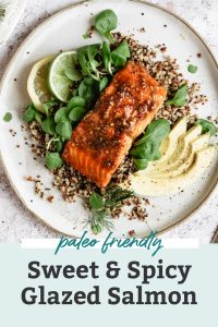 sweet & spicy glazed salmon pinterest