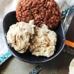 Vegan Peanut Butter Swirl Ice Cream with Chocolate Cookie Crumbles