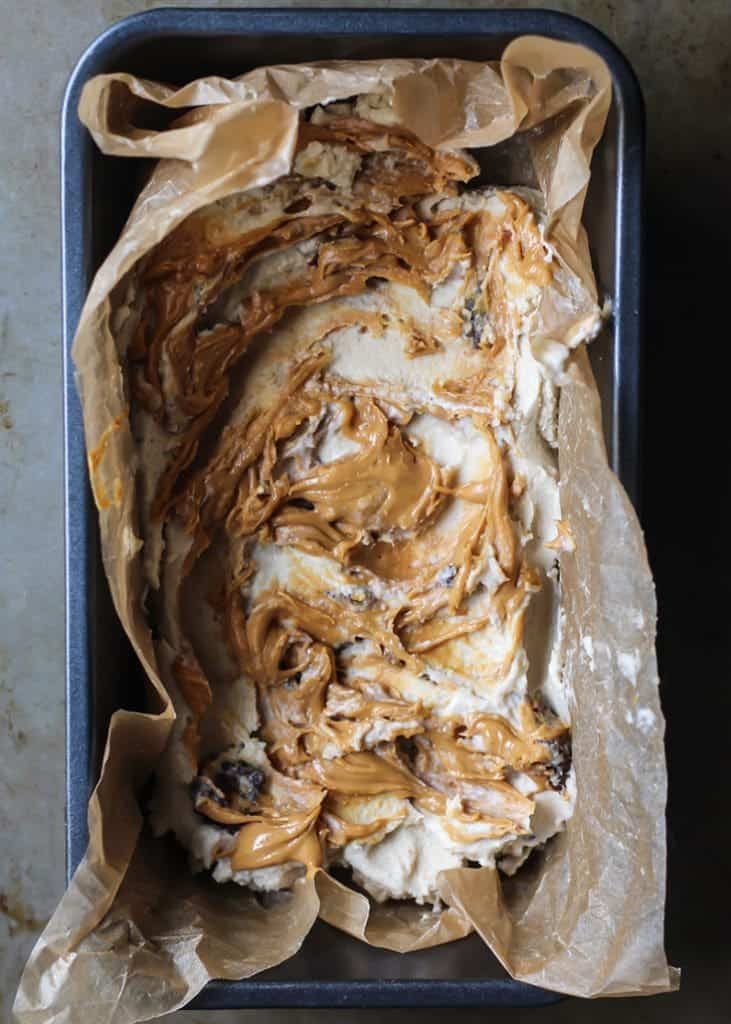 Vegan Ice Cream! Peanut butter swirly goodness.