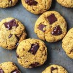 Chocolate Chunk Turmeric Cashew Butter Cookies