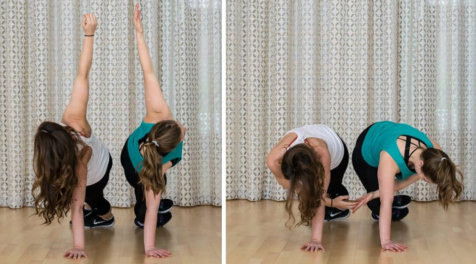 20 Minute Buddy Band Workout - Partner Planks