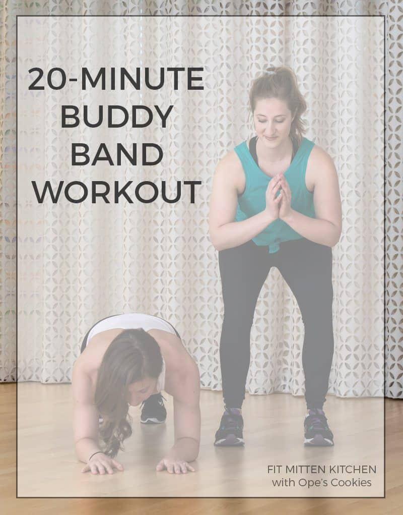 20-Minute Buddy Band Workout, in partnership with Ope's Cookies  #ad