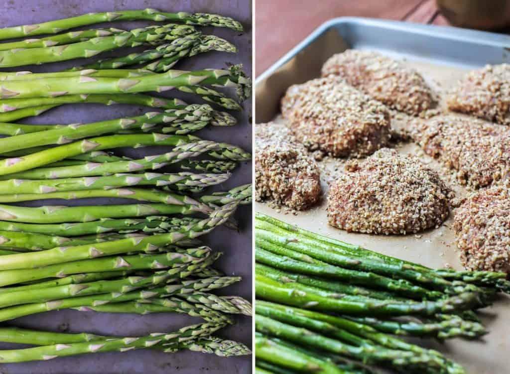 Crusted Hemp Chicken & Asparagus Sheet Pan Dinner