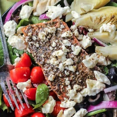 My Favorite Greek Salmon Salad