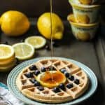 Easy and delicious Greek Yogurt Waffles using lemon yogurt. Gluten-free friendly using 1:1 flour