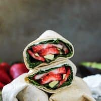 You will love this Strawberry Basil Avocado Wrap! Light and refreshing, gluten-free and vegan-friendly.