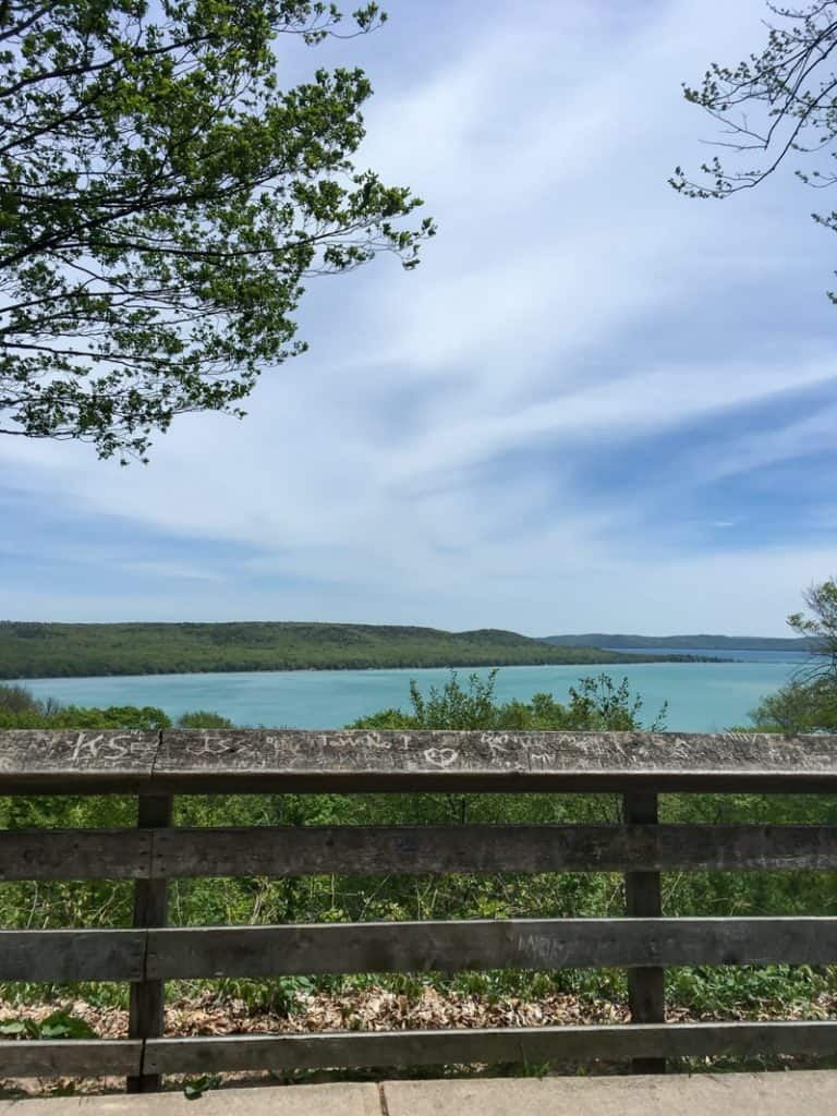 Scenic Drive pull-off on the Sleeping Bear Dunes National Lake Shore