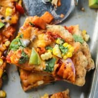 Sweet Potato Black Bean Mexican Pizza