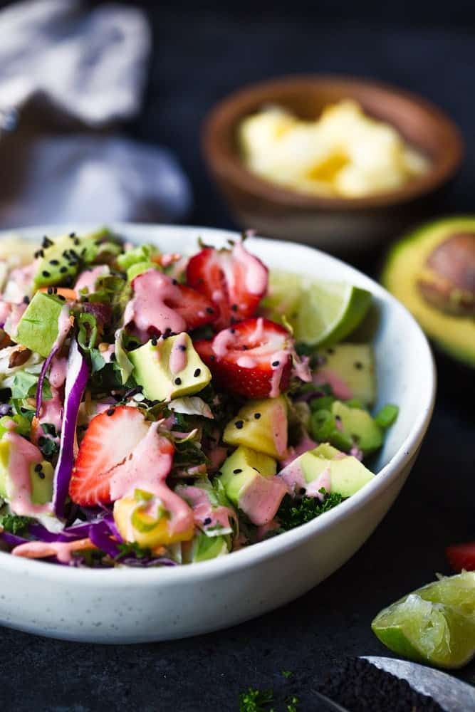 Paleo Strawberry Avocado Summer Salad
