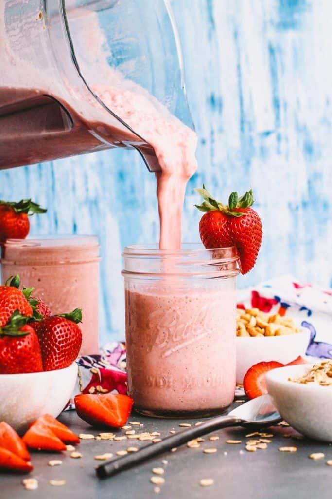 Strawberry PB & J Protein Smoothie
