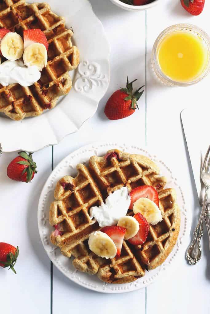Strawberry Banana Waffles