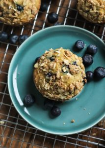 Healthy Whole Grain Blueberry Muffins