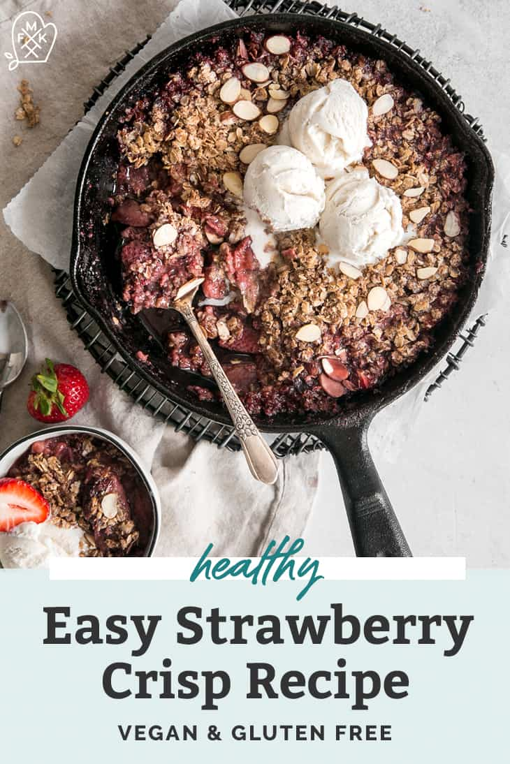 healthy easy strawberry crisp