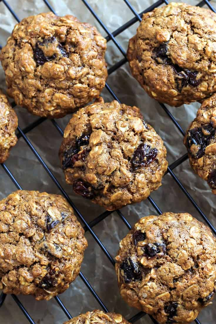Gluten-Free Cherry Oatmeal Cookies. Dairy-free. You can also use a whole wheat flour too!