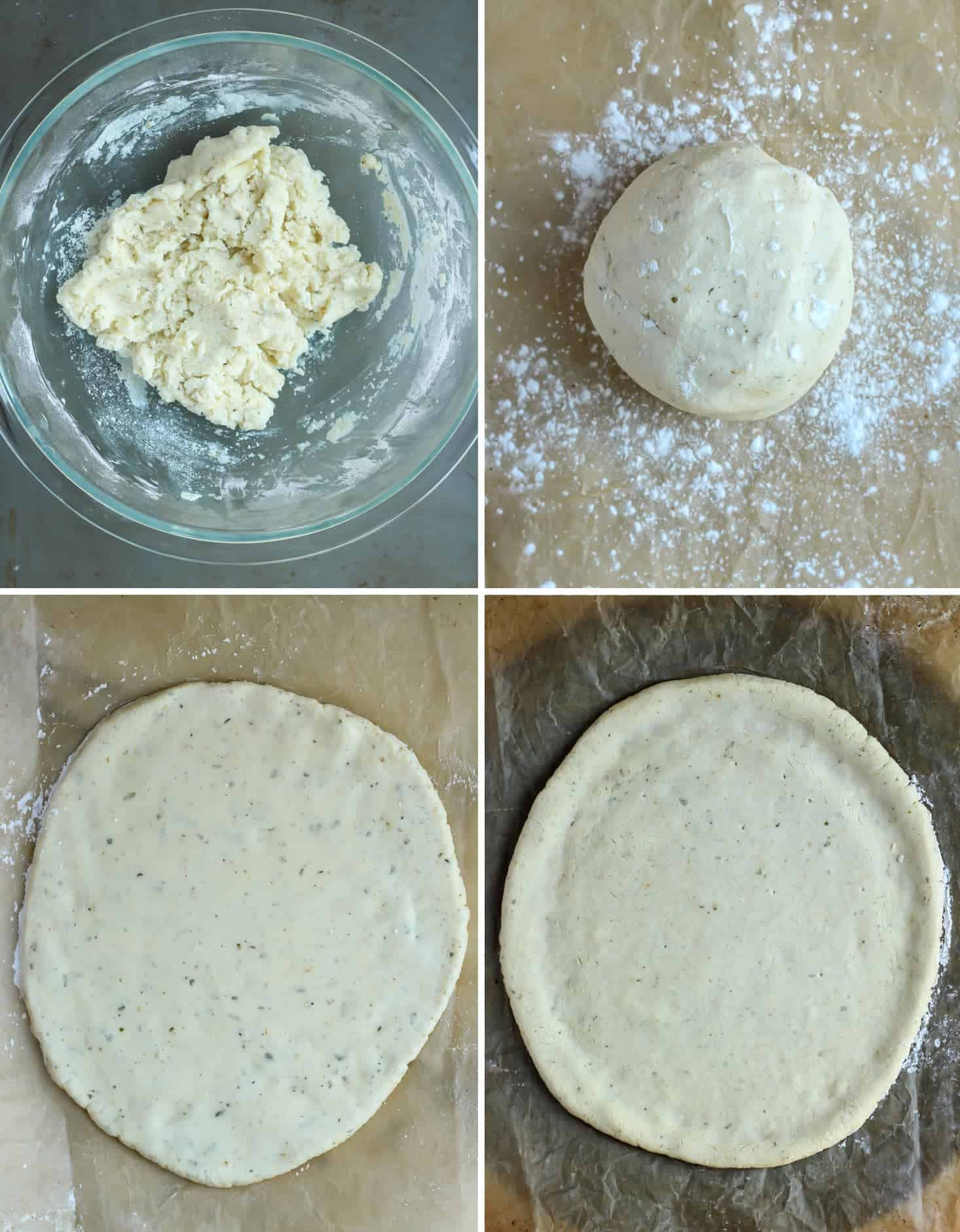 Simple steps and one bowl for a paleo pizza crust! Using tapioca flour and a little bit of coconut flour making this pizza crust nut free and low carb.