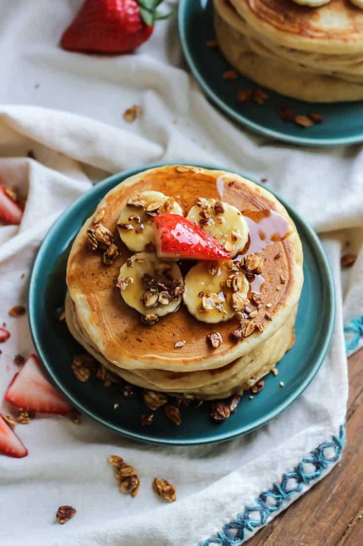 Whole Grain Greek Yogurt Pancakes Fit Mitten Kitchen