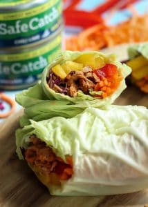 Adding these cabbage wraps with chili lime tuna to my weeknight menu! They are gluten free, dairy free, paleo and even whole30 friendly.