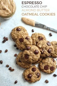 Your oatmeal cookie got a makeover: Espresso Chocolate Chip Almond Butter Oatmeal Cookies! These cookies are made gluten-free friendly and dairy-free too. The perfect excuse to enjoy cookies with your morning coffee.