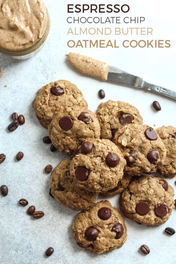 almond butter oatmeal cookies pinterest