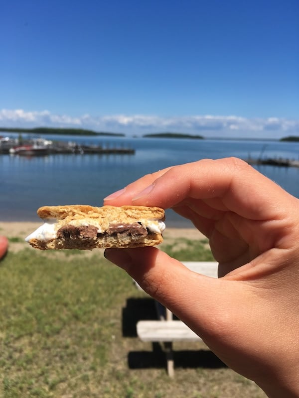 Smore's with lunch on Drummond Island