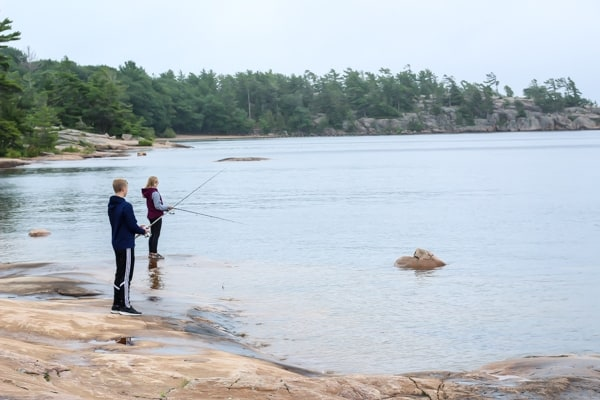 Drew always taking my little siblings fishing :-)