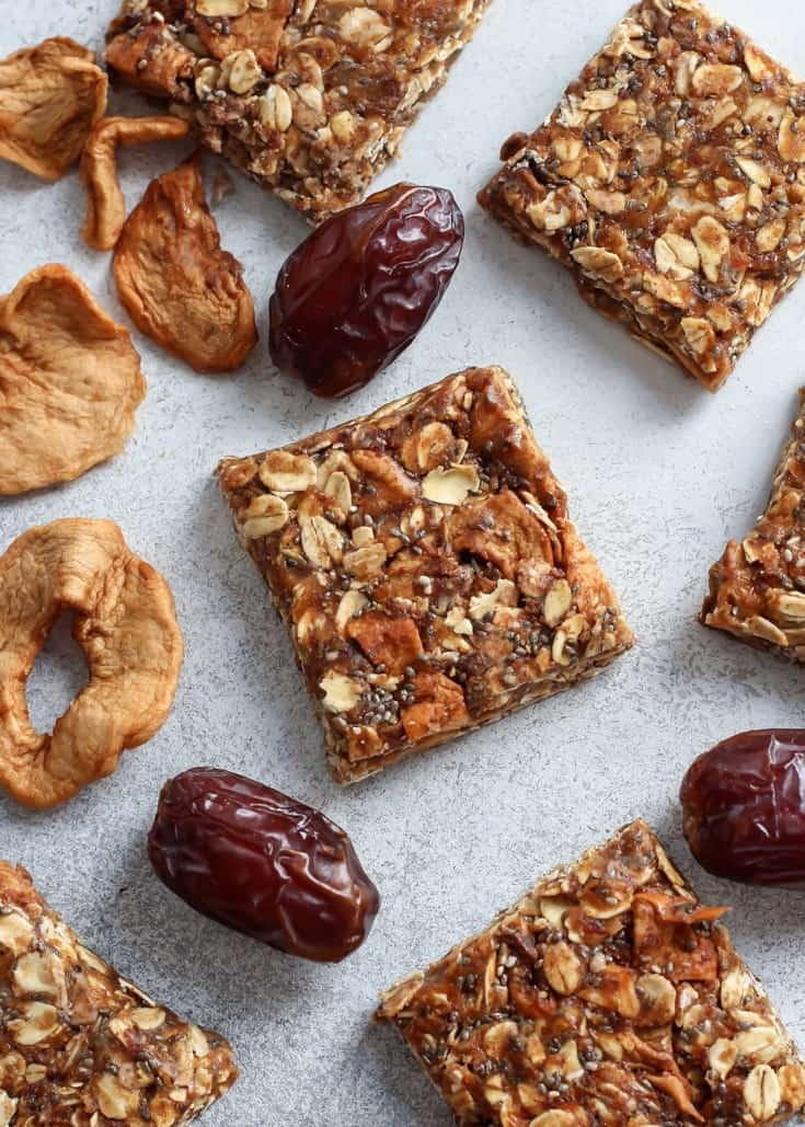 These Medjool Date Spiced Apple Oat Bars are vegan, gluten-free and contain zero added sugars – completely fruit-sweetened!